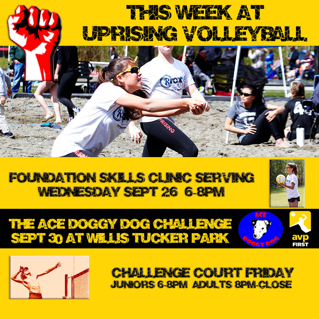 This Week at Uprising Volleyball in Mukilteo:  Ace Doggy Tournament,