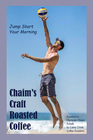 Chaim's Craft Roasted Coffee, Offical Coffee of Olympian Chaim Schalk