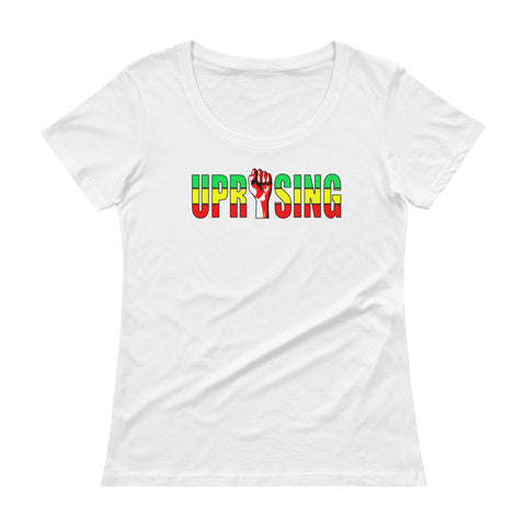 Heights, Green & Gold Ladies' Scoopneck T-Shirt
