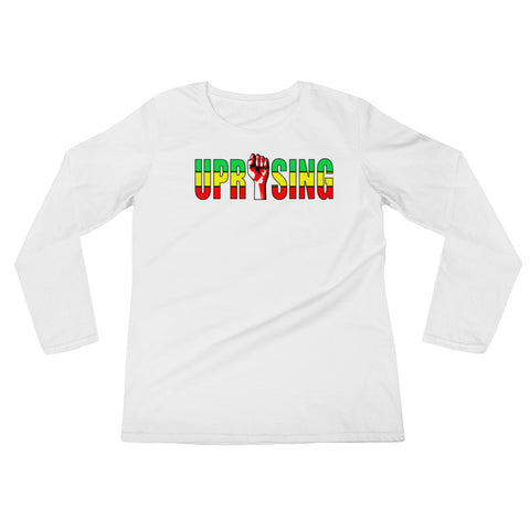 Heights, Green & Gold Ladies' Long Sleeve T-Shirt