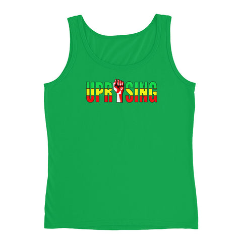 Uprising Heights, Green & Gold Ladies' Tank