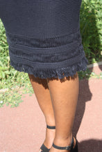 Vintage Wool Midi Skirt With Tassel Hem