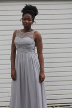 Little Mistress Grey embellished maxi dress