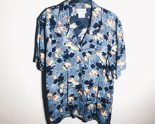Vintage Flower Print Shirt Button Up