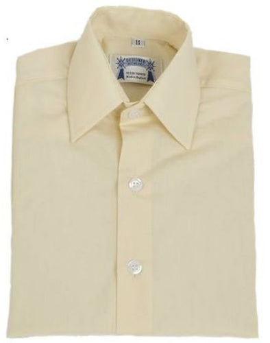 Adults Cream Oxford Cotton showing shirt