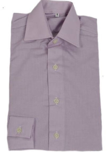 Adults Lilac Oxford Cotton showing shirt