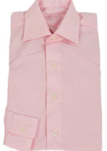 Adults Pink Oxford Cotton showing shirt