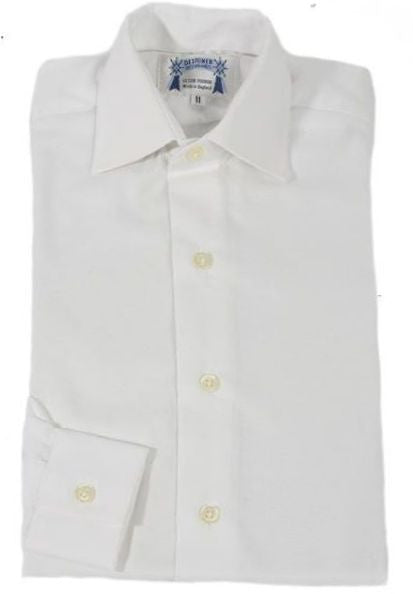 Childrens White Oxford Cotton showing shirt
