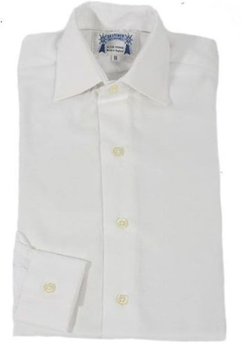 Adults White Oxford Cotton showing shirt