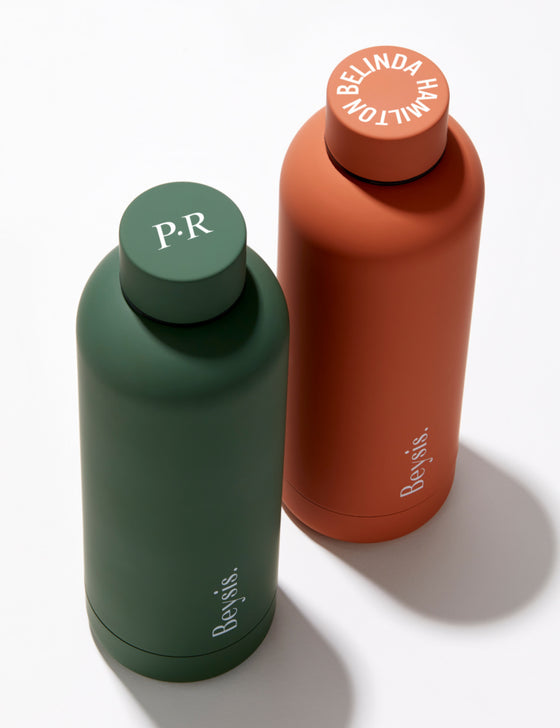 Monogrammed and personalised water bottles by Beysis