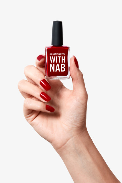 custom branded red nail polish for corporate gifting