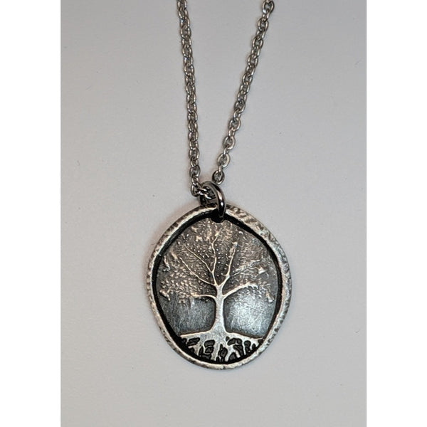 Tiny Rooted Tree Medallion