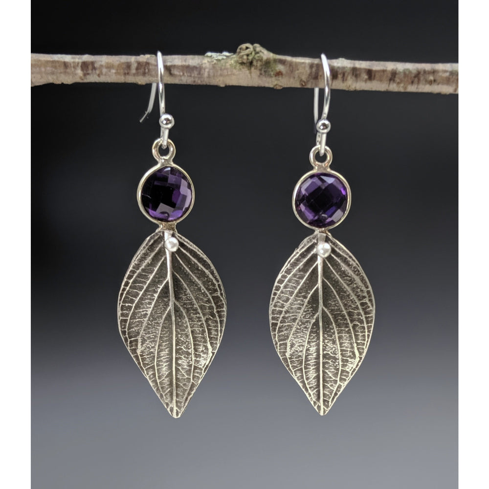 Spring Dogwood Leaf Earrings