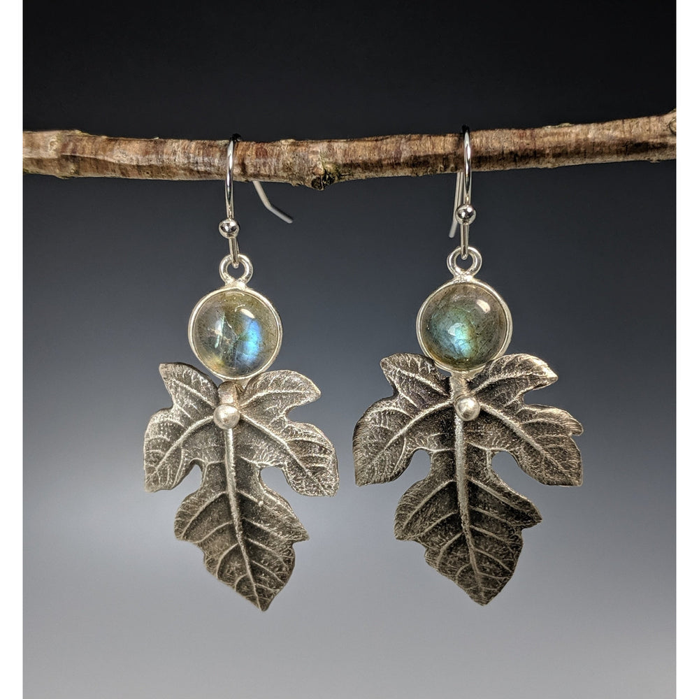 Earrings Fig Leaf-made to order