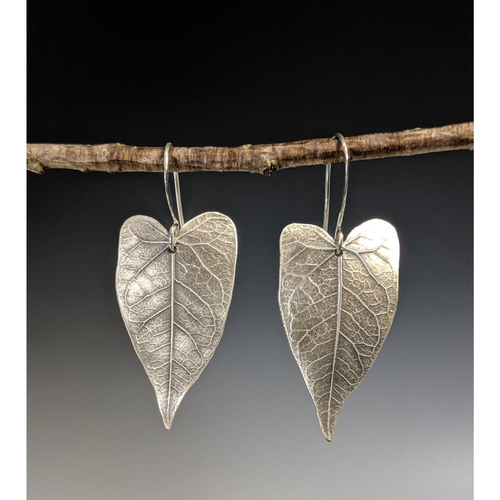 Earrings-Morning's Glory Leaf-Made to Order
