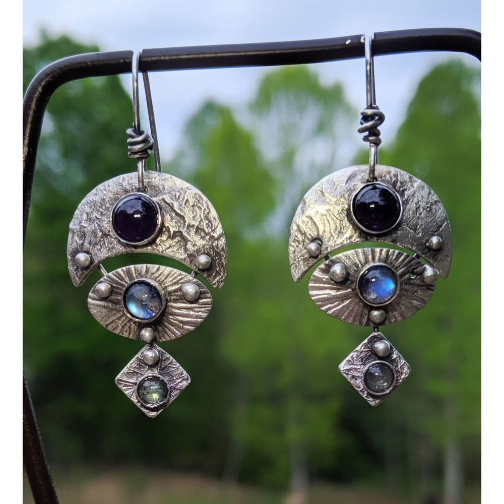 Warrior Goddess VI -Earrings-One of a Kind