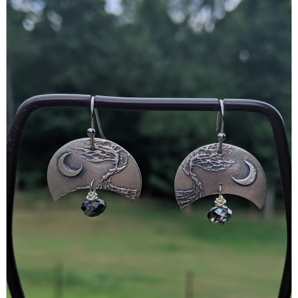 NEW WORK - JULY 2020-Earrings-Stormy Moon