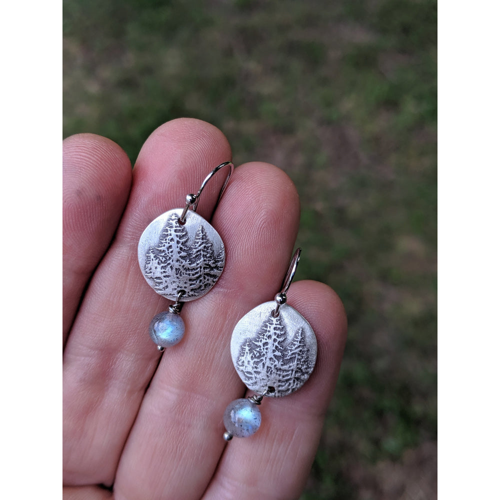 NEW WORK- JULY 2020-Earrings-Pine Pebbles