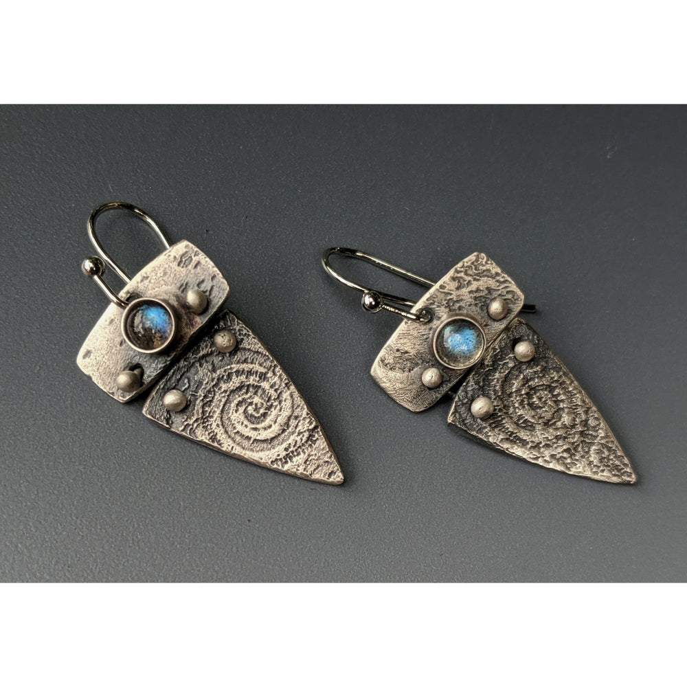 NEW WORK JULY 2020-Nautilus earrings-SOLD