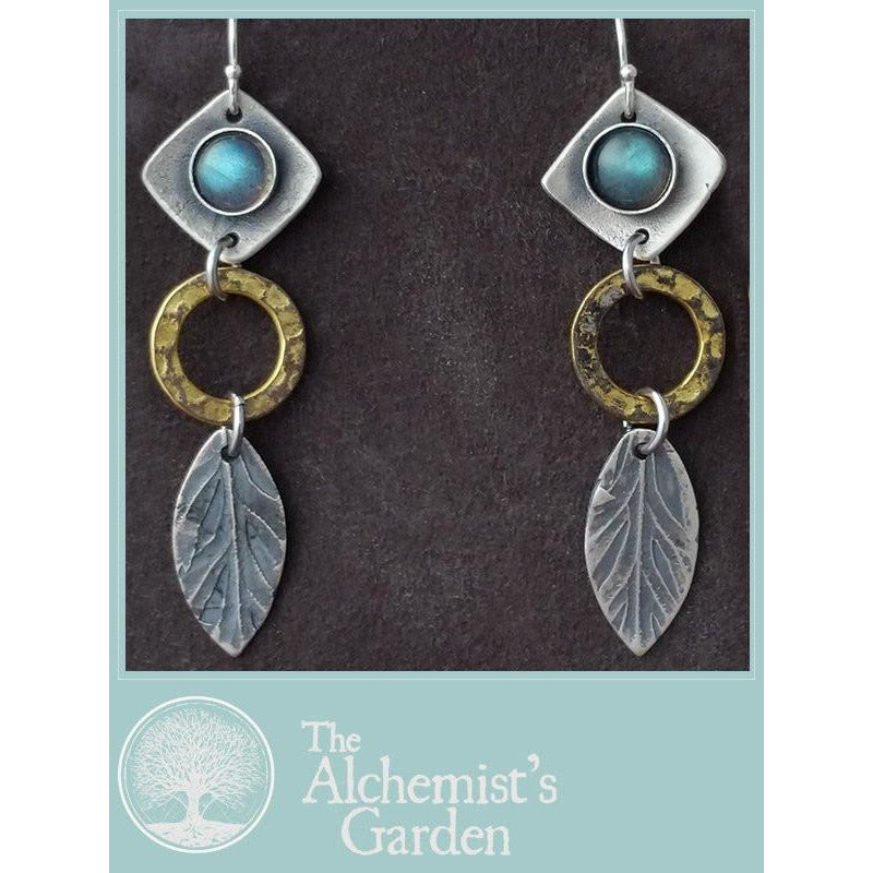 Tiered Earrings-Labradorite or moonstone