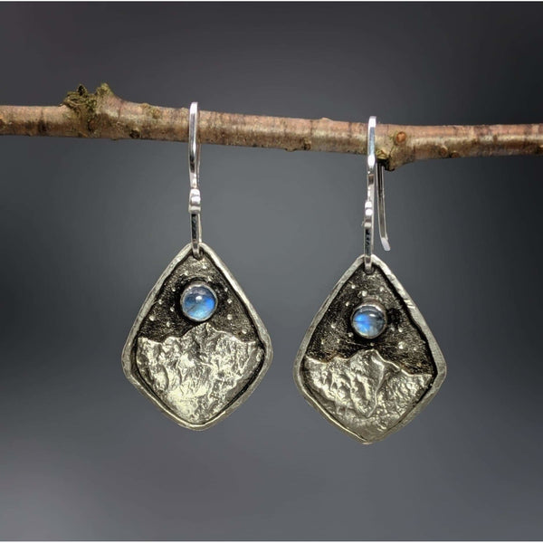 Silver Peaks Earrings-Sculptured Landscapes-Made to Order