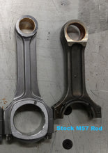 Stock M57 connecting rod on the right.
