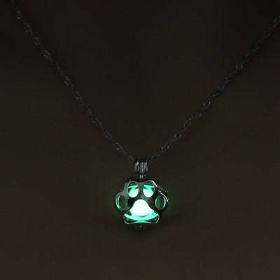 Dog Paw Glowing Necklace