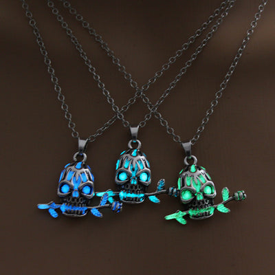 Skull Glowing Necklace