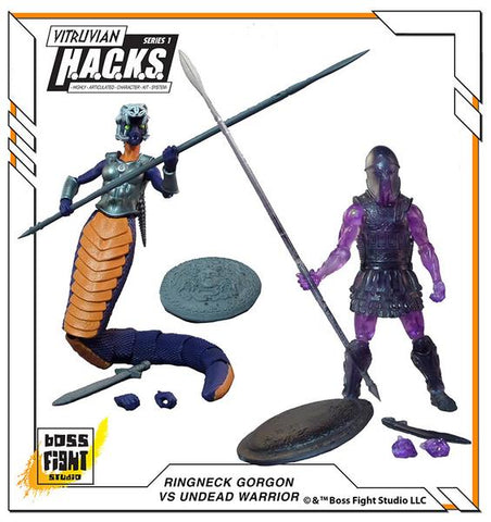 VITRUVIAN H.A.C.K.S. UNDEAD WARRIOR VS RINGNECK GORGON - CONVENTION EXCLUSIVE