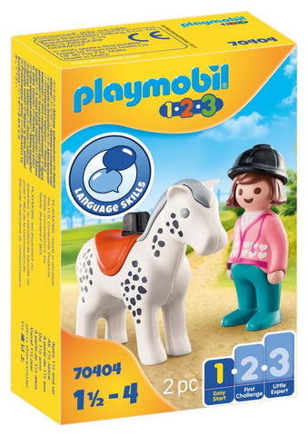 PLAYMOBIL 1.2.3 - Rider with Horse - 70404