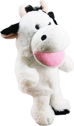 Plush Hand Puppet 10in - Cow