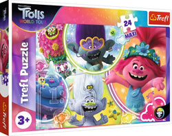 Maxi The Music World Of Trolls 24 Piece Trolls Puzzle