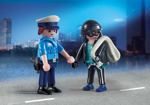 PLAYMOBIL City ACTION Policeman and Burglar Duo Pack - 9218