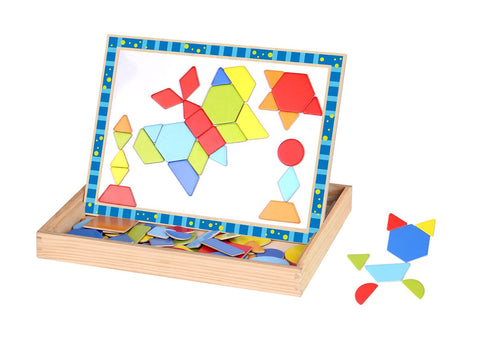 Wooden Magnetic Double Sided Shape Puzzle