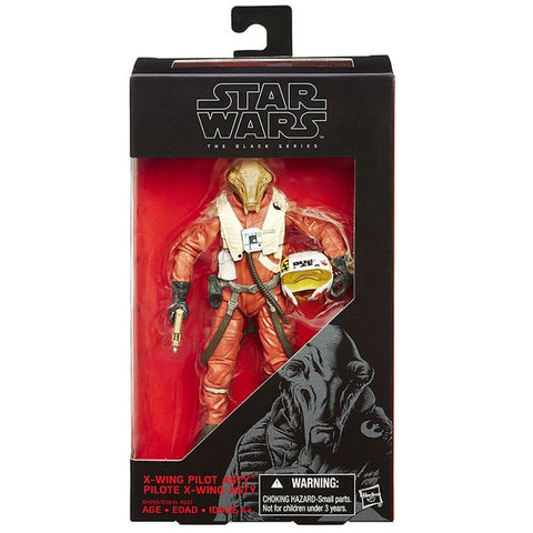 Star Wars Black Series X-Wing Pilot Ello Asty (Non Mint Packaging)