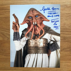 GERALD HOME AS TESSEK SQUID HEAD 8X10 AUTOGRAPHED