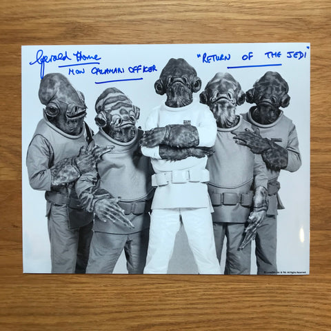GERALD HOME AS MON CALAMARI OFFICER 8X10 AUTOGRAPHED