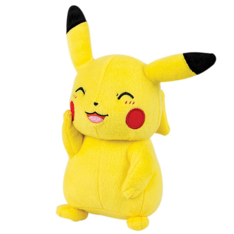 POKEMON 8 Inch Plush - Pikachu (Happy, Eyes Closed)