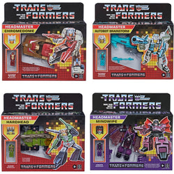 Transformers Headmaster G1 Retro Assortment Set of 4 – Hardhead, Chromedome, Mindwipe & Brainstorm  - PRE-ORDER