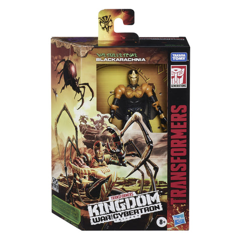 Transformers Kingdom Deluxe Black Arachnia