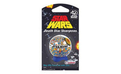 STAR WARS HELIX 40TH ANNIVERSARY DEATH STAR PENCIL SHARPENER & RETRO STORMTROOPER 30CM RULER
