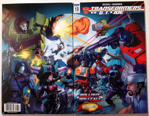 Transformers VS G.I. Joe #13 Roll Out Roll Call Variant Cover Convention Exclusive IDW