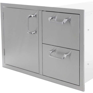 "PCM 30"" Single Door/ 2 Drawer Combo-TheBBQHQ"