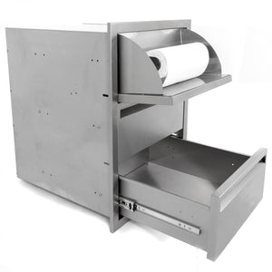 PCM 17X24 Triple Access Drawer With Paper Towel Dispenser-TheBBQHQ