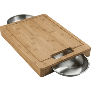 Napoleon PRO CUTTING BOARD with Stainless Steel Bowls-TheBBQHQ