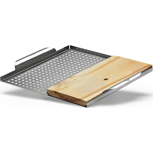 Napoleon STAINLESS STEEL MULTI-FUNCTIONAL TOPPER with Cedar Plank-TheBBQHQ