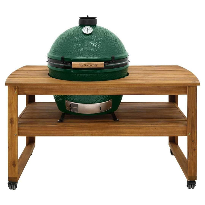 Big Green Egg Acacia Hardwood Table