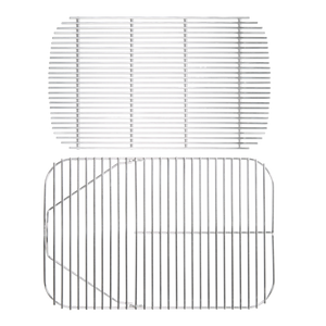 The Original PK Grill Replacement Stainless Steel Cooking Grid and Charcoal Grate Bundle