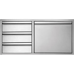 "Twin Eagles 42"" 3-Drawer-Door Combo-TheBBQHQ"