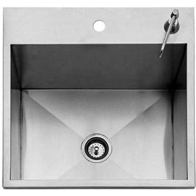 "Twin Eagles 24"" Outdoor Sink with S/S Cover (Faucet Not Included)-TheBBQHQ"